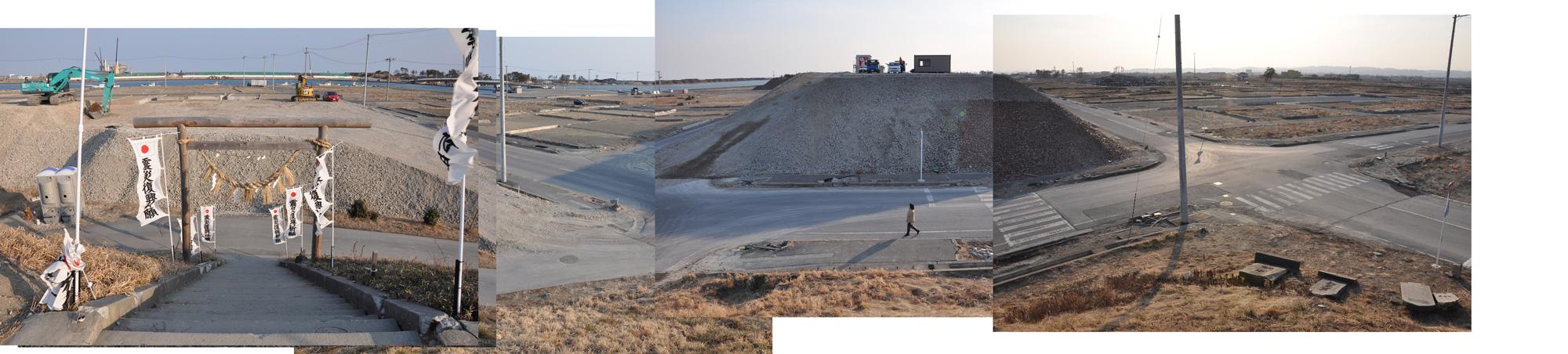 閖上日和山定点観測(東南東-西南西)2012年2月