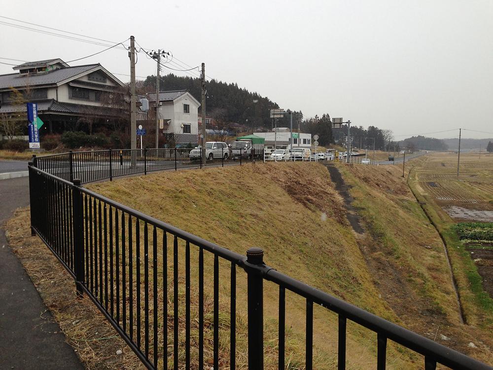 修復工事が終了した国道4号沿い