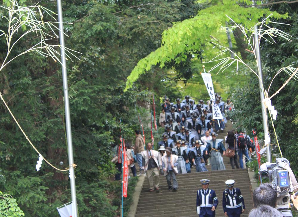 仙台藩志会の行列