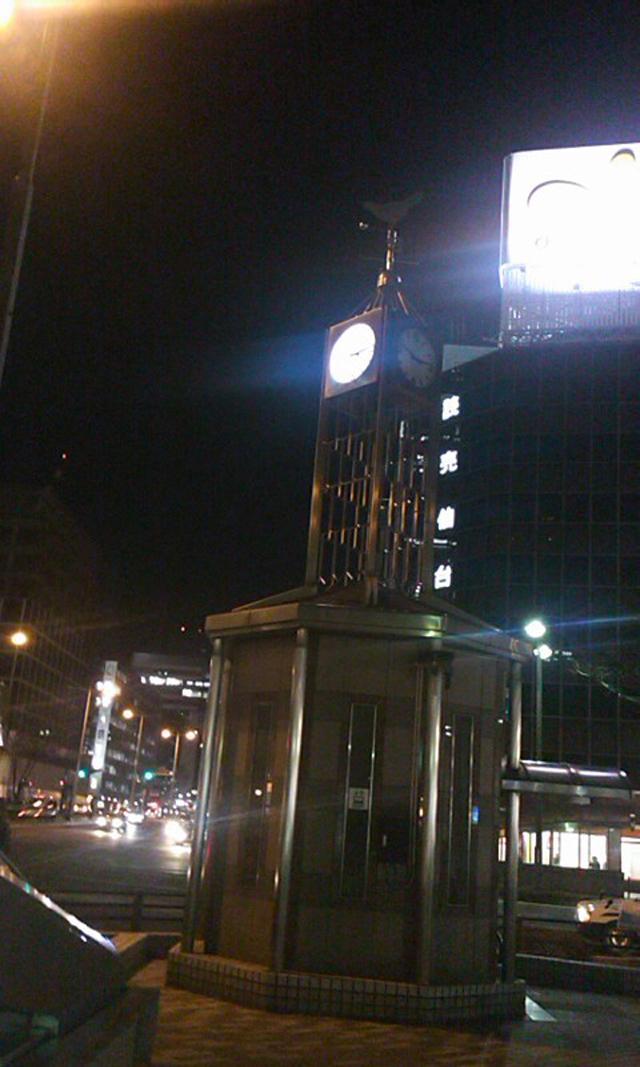 ダイエー仙台店と七十七銀行前の時計台