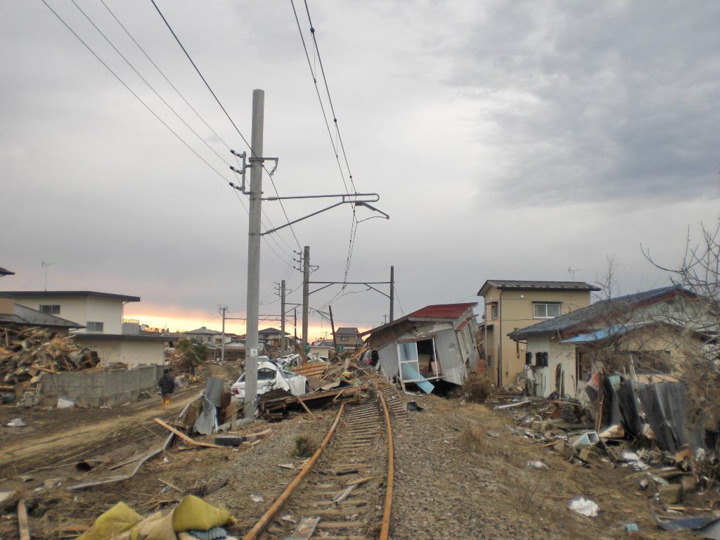 線路が撤去された仙石線
