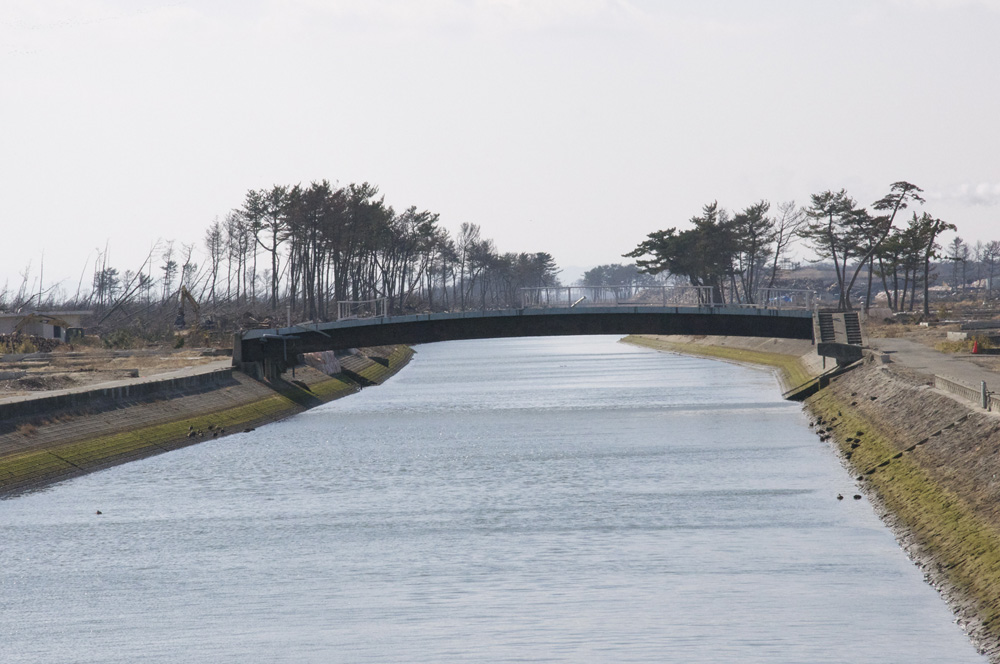 震災後の貞山運河の様子(2)