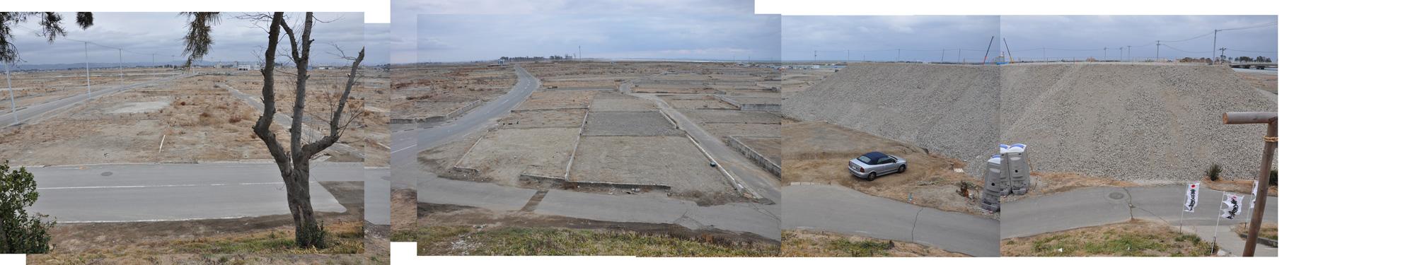 閖上日和山定点観測(西北西-東南東)2012年1月