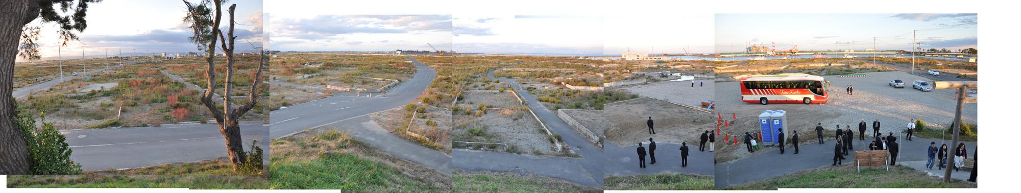 閖上日和山定点観測(西北西-東南東)2012年10月