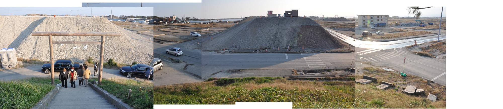 閖上日和山定点観測(東南東-西南西)2011年10月