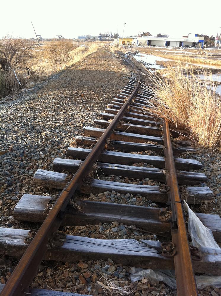 気仙沼線の線路
