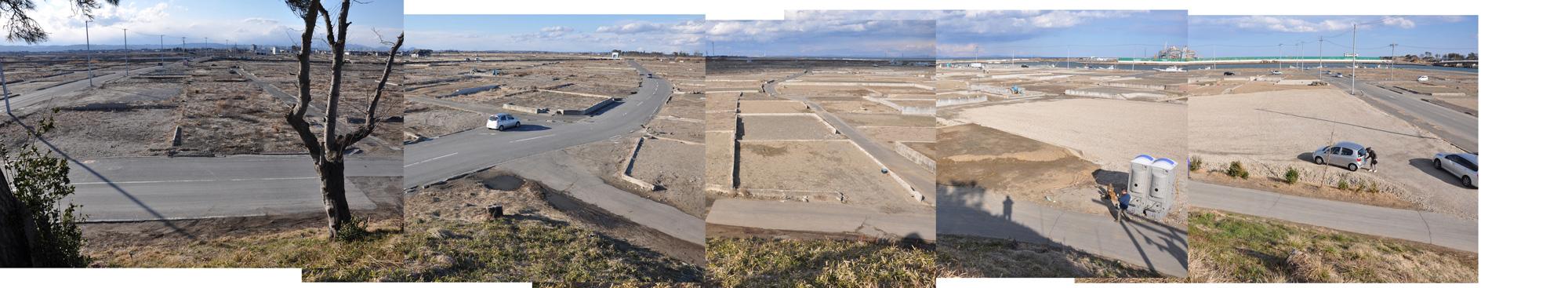 閖上日和山定点観測(西北西-東南東)2012年3月