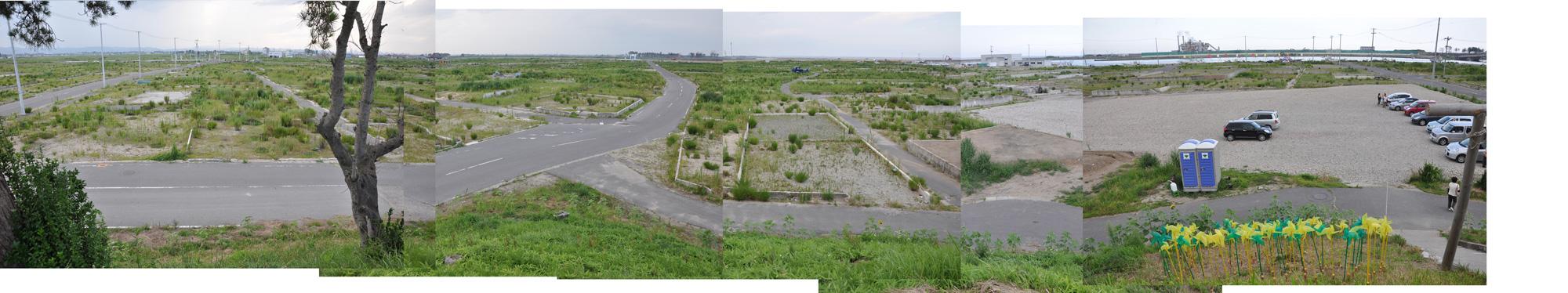 閖上日和山定点観測(西北西-東南東)2012年8月