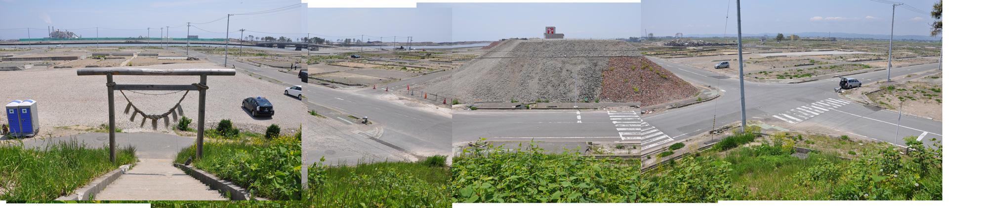 閖上日和山定点観測(東南東-西南西)2012年5月
