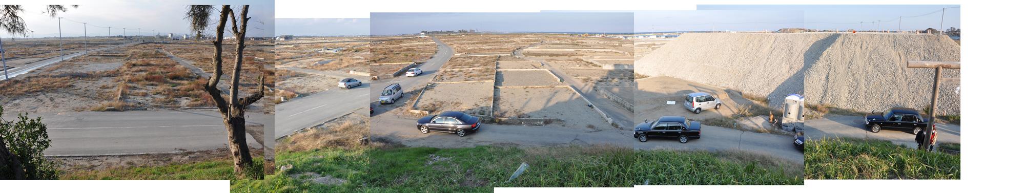 閖上日和山定点観測(西北西-東南東)2011年10月