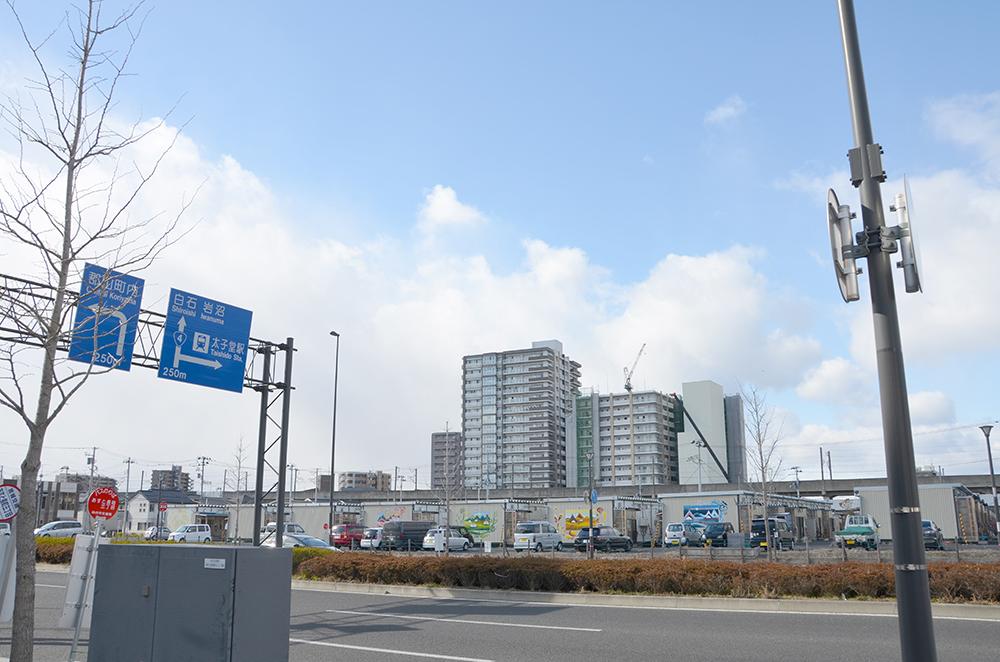 長町定点観測写真01〈東北電気保安協会前から仮設住宅...