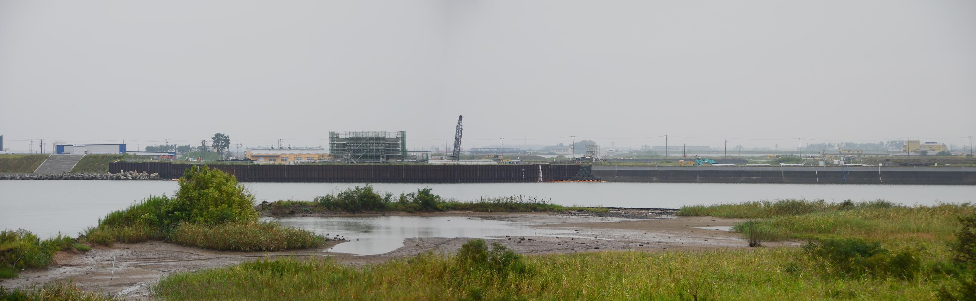 閖上・名取川の災害復旧工事
