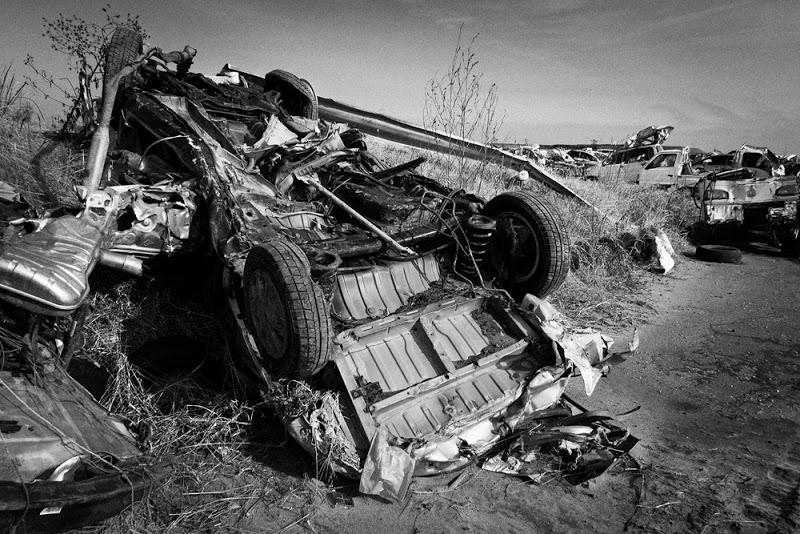 廃棄された車両