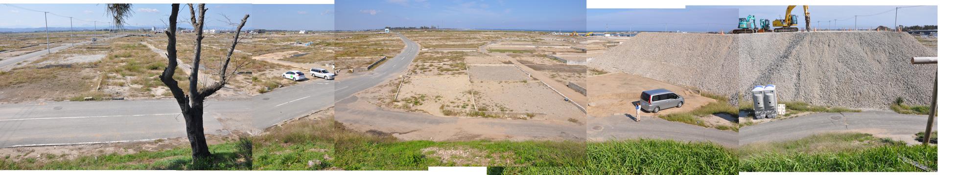 閖上日和山定点観測(西北西-東南東)2011年9月