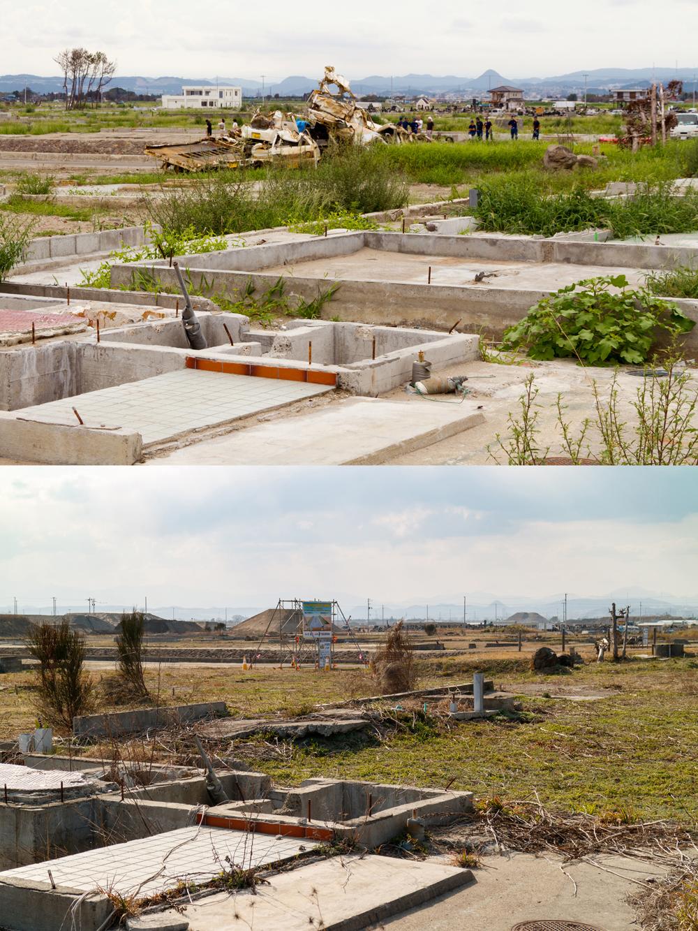 県道137号線 貞山運河周辺 復旧工事