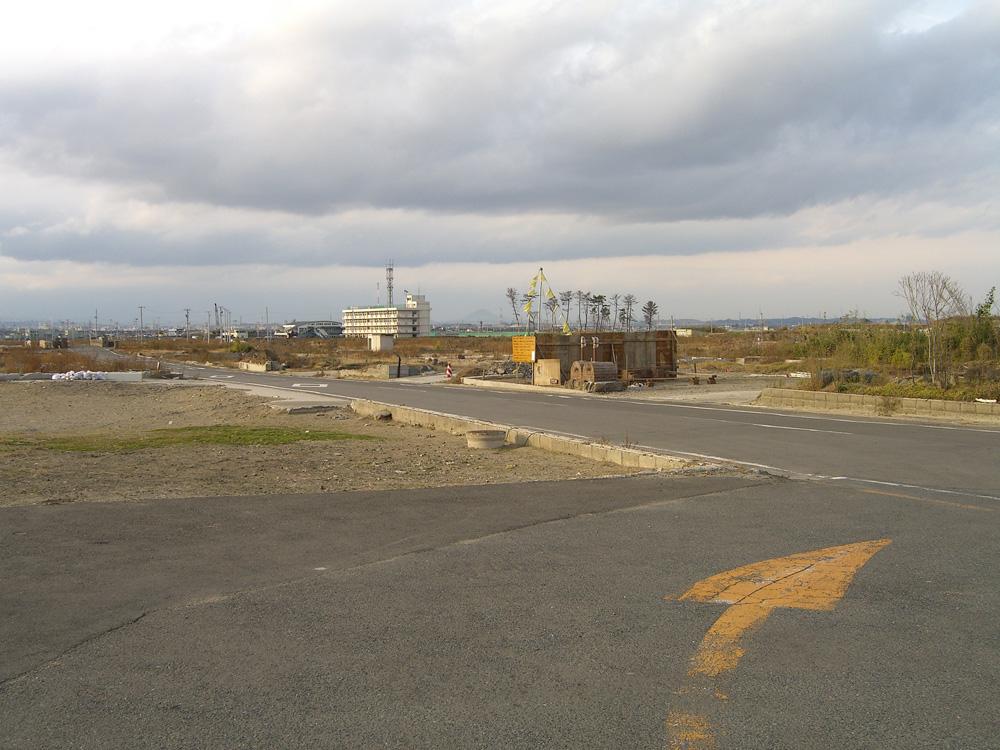荒浜の風景