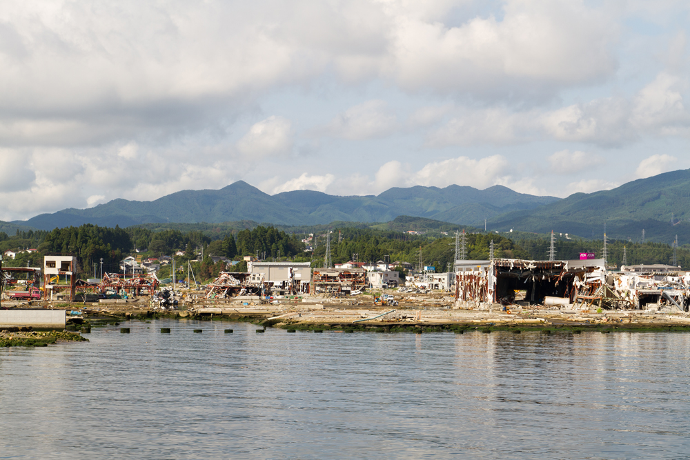 港の車の集積所
