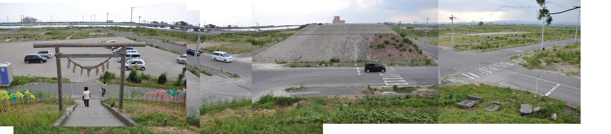 閖上日和山定点観測(東南東-西南西)2012年8月
