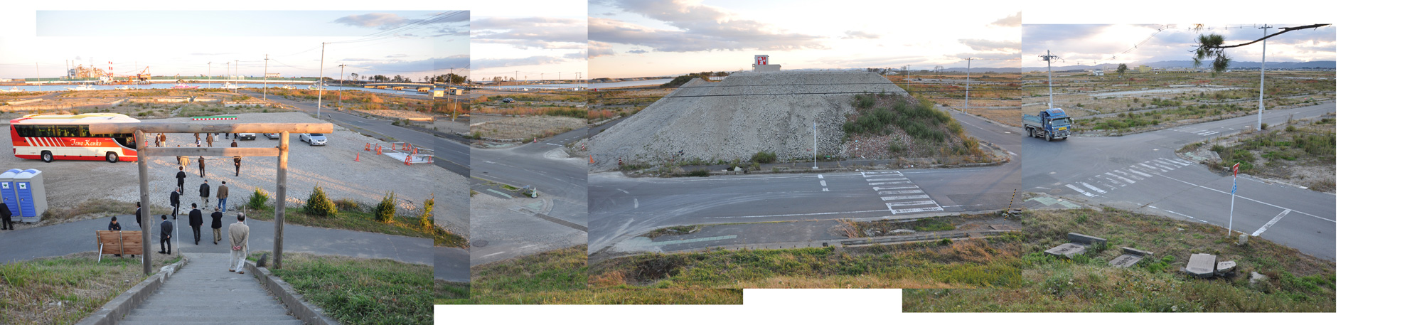 閖上日和山定点観測(東南東-西南西)2012年10月