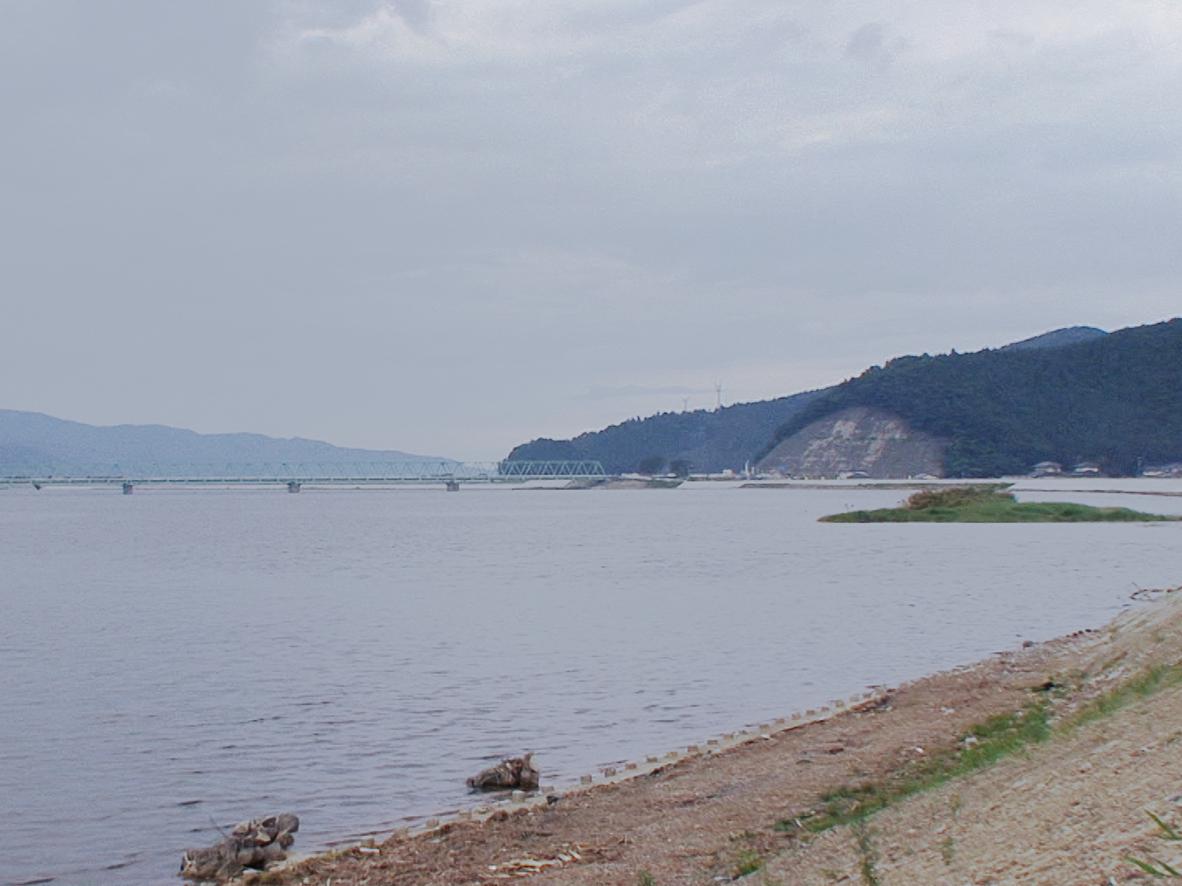 みみで眺めるー北上川に面した県道30号/石巻市針岡
